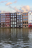 Facades of historic buildings,  Amsterdam — Stock Photo