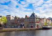 Historical houses in old Haarlem, Holland — Stock Photo