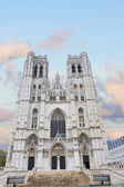 Cathedral of St. Michael and St. Gudula, Brussels, — Stock Photo