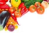 Frame of fresh vegetables close up — Stock Photo