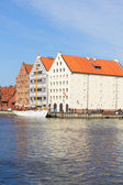 Granary island in Gdansk, Poland — Stock Photo