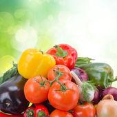 Pile  of fresh ripe vegetables — 图库照片