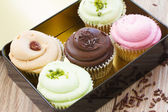 Cupcakes in box — Stock Photo