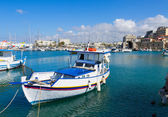 Old port of Heraklion, Crete, Greece — Stock fotografie