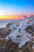 Oia village at sunset, Santorini — Stock Photo