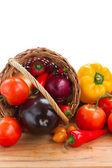 Fresh vegetables on table — Stock Photo