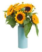 Sonnenblumen und ringelblume blumen blumenstrauß — Stockfoto
