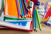 Boeken met school aanbod — Stockfoto
