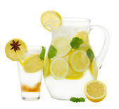 Pitcher and glass  of lemonad — Foto Stock
