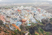 Thira, the capital of Santorini island — Stock Photo