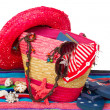 Sunbathing accessories isolated on towel — Foto de Stock