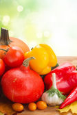 Fresh vegetables on table — Stock Photo