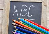 Abc とブラック ボード — ストック写真