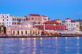 Venetian habour of Chania, Crete, Greece — Stock Photo