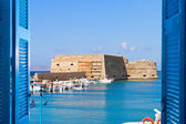 Heraklion harbour, Crete, Greece — Stock Photo