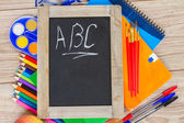 Black board with ABC — Stock Photo