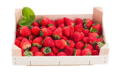 Strawberry in crate — Stockfoto