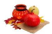 Pumpkins on table — Stock Photo