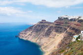 Santorini island  and Aegan sea — Stock fotografie