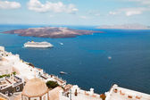Thira and caldera of Santorini volcano — Stock Photo