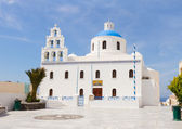 The Orthodox Church  in Oia, Santorini. — Stock fotografie