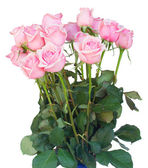 Bunch  of fresh pink roses — Stockfoto