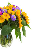 Posy of mixed autumn flowers — Stock Photo
