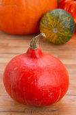 Pumpkin on table — Stock Photo