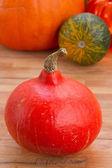 Pumpkin on table — Stock Photo