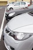 Cars parking lot — Stock Photo