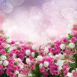Bunch of roses and  tulips flowers — Stock Photo #49658385
