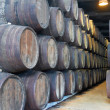 Cellar with wine barrels — Stock Photo #50143497