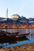 Night scene of Porto, Portugal — Stock Photo