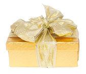 Złote pudełko — Zdjęcie stockowe
