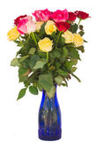Bouquet of fresh multicolored  roses — Stockfoto