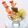 Salad from seafood - Stock Photo