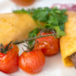 Dish with two fried cutlet — Stock Photo