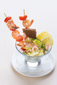 Salad from seafood — 图库照片