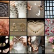 Collection of wedding details - Stock Photo