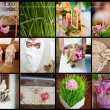 Collection of wedding details — Stock Photo