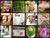 Collection of wedding details — 图库照片