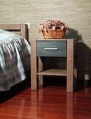 寝室のインテリアのフラグメント — ストック写真