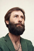The man with a big beard and mustaches — Stock Photo