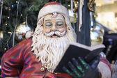 Santa Claus reading book — Стоковое фото