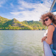 The girl on the boat — Stock Photo #18716447