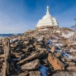 Stock Photo: Sacred stupin Siberia