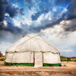 Yurt  nomadic house — Stock Photo