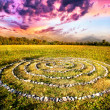 Stone spiral - Stock Photo