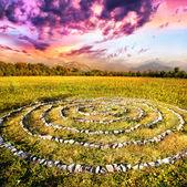 Stone spiral — Stock Photo