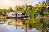 Hausboot in den backwaters — Stockfoto